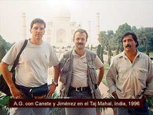 Antonio Gálvez en la India